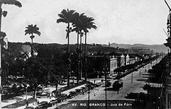 Avenida Rio Branco, em Juiz de Fora, 1928
