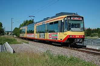 DÜWAG - Dual voltage GT 8-100D/2S-M for the Karlsruhe Stadtbahn