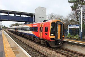 Axminster railway station - A train to London Waterloo