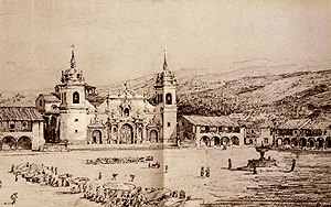 Léonce Angrand - Historical view of colonial Ayacucho (c.1847)