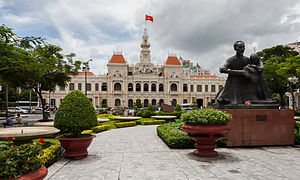 French Colonial - Ho Chi Minh City Hall in Vietnam, built between 1902-1908, is one of the largest and most significant French Colonial building in former French Indochina.