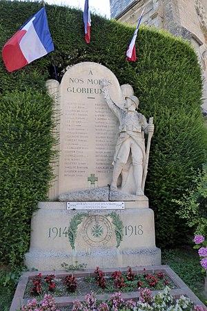 Félix Charpentier - Image: Béville le Comte monument aux morts Félix Charpentier Eure et Loir (France)
