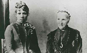 Christina Smith (missionary) - Mrs James Smith (right) and Jenny Westendorf of Mt Gambier (1880)