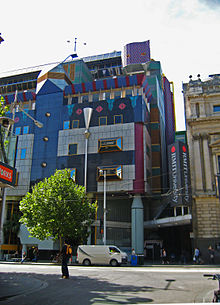 A view of Edmond and Corrigan's Building 8 from Swanston Street.