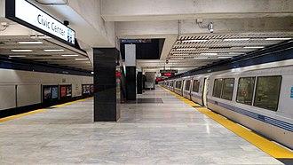Civic Center/UN Plaza station - BART train at Civic Center/UN Plaza station in 2018