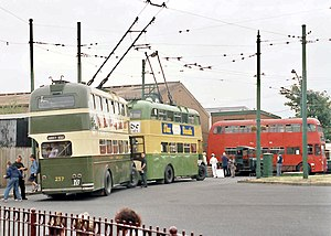 Current collector - Image: BCLM various trolleybuses