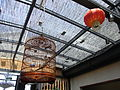 BJ 北京 Tour Beijing 嵗吉府餐廳 restaurant transparent cover ceiling Lanerm bird cage Aug-2010.JPG