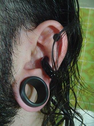 Plug (jewellery) - An example of an earplug