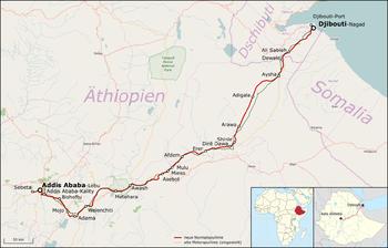 Strecke der Bahnstrecke Addis Abeba–Dschibuti
