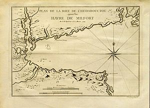 Chedabucto Bay - 1744 map of Chedabucto Bay