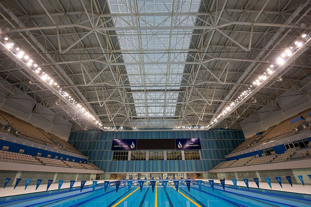 File baku aquatic palace inside view swimming - Is there a swimming pool in buckingham palace ...