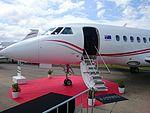 Balmoral Air (VH-WIO) Dassault Falcon 2000EX on display at the 2015 Australian International Airshow.jpg