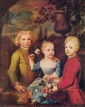 Balthasar Denner: Drei Kinder des Ratsherrn Barthold Hinrich Brockes, 1724 (Quelle: Wikimedia)