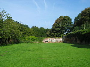 Bank Hall Gardens - Bank Hall walled garden and greenhouse (2009)