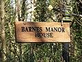 Barnes Manor House Sign - geograph.org.uk - 356701.jpg