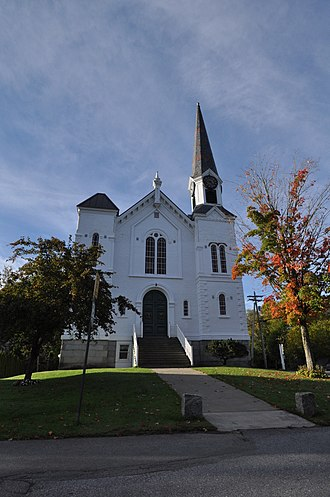 National Register of Historic Places listings in Orleans County, Vermont - Image: Barton VT Barton United Church