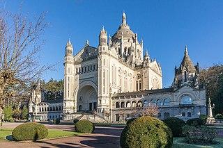 Basilica of Sainte-Thérèse, Lisieux basilica located in Calvados, in France