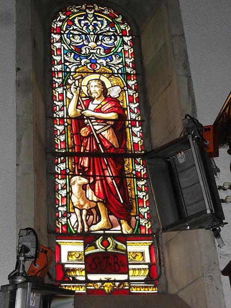 Bassussarry vitrail St Jean Baptiste