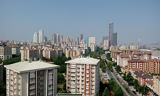 Ataşehir District in Istanbul, Turkey