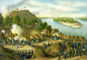 Siège de Vicksburg par Kurz and Allison.
