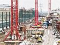 Bauarbeiten der Durchmesserlinie Zürich beim Bahnhof Oerlikon (im Januar 2011).jpg