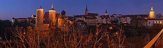 Lusatia - The town of Bautzen/Budyšin at night
