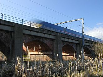 Bawtry - A GNER train heading south over Bawtry viaduct