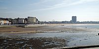 Bay and beach low tide at Margate Kent England.jpg