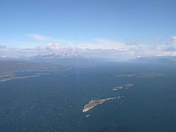 Beagle channel from air bird view.jpg