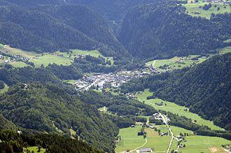 Beaufort, Savoie - An aerial view of Beaufort