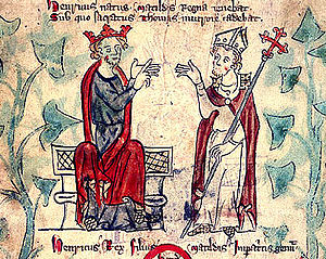 Henry II of England - Early 14th-century representation of Henry and Thomas Becket