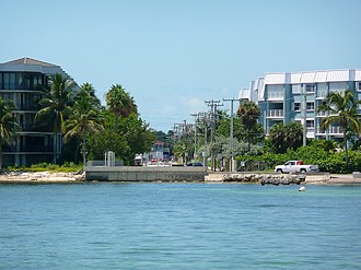 Florida State Road A1A - The beginning of A1A (mile marker 0) at Bertha Street in Key West