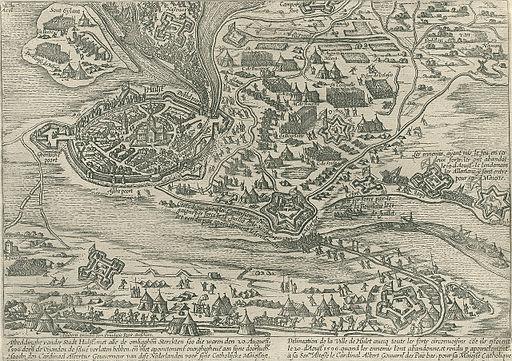 Beleg van Hulst (1596) door Albertus van Oostenrijk - Siege of Hulst (1596) by Albert of Austria (Frans Hogenberg)
