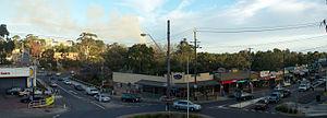 Belgrave, Victoria - Belgrave main street (Burwood Highway)
