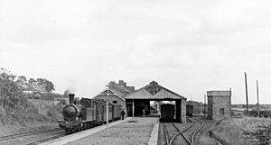 Belturbet railway station - Image: Belturbet station, 1948 (geograph 5222589)