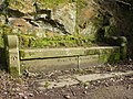 Bench with a benchmark, Williamson Park - geograph.org.uk - 1770235.jpg