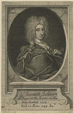 Floridante - Benedetto Baldassari,who created the role of Timante
