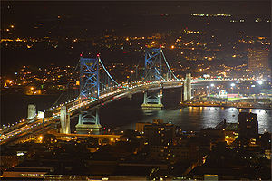 Benjamin Franklin Bridge - Ben Franklin Bridge at night