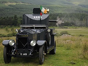 Armoured fighting vehicles of the Irish Army - Restored Rolls-Royce Armoured Car in 2013