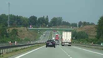 Expressway S7 (Poland) - S7 near Białobrzegi