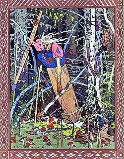 Baba Yaga, by Ivan Bilibin.