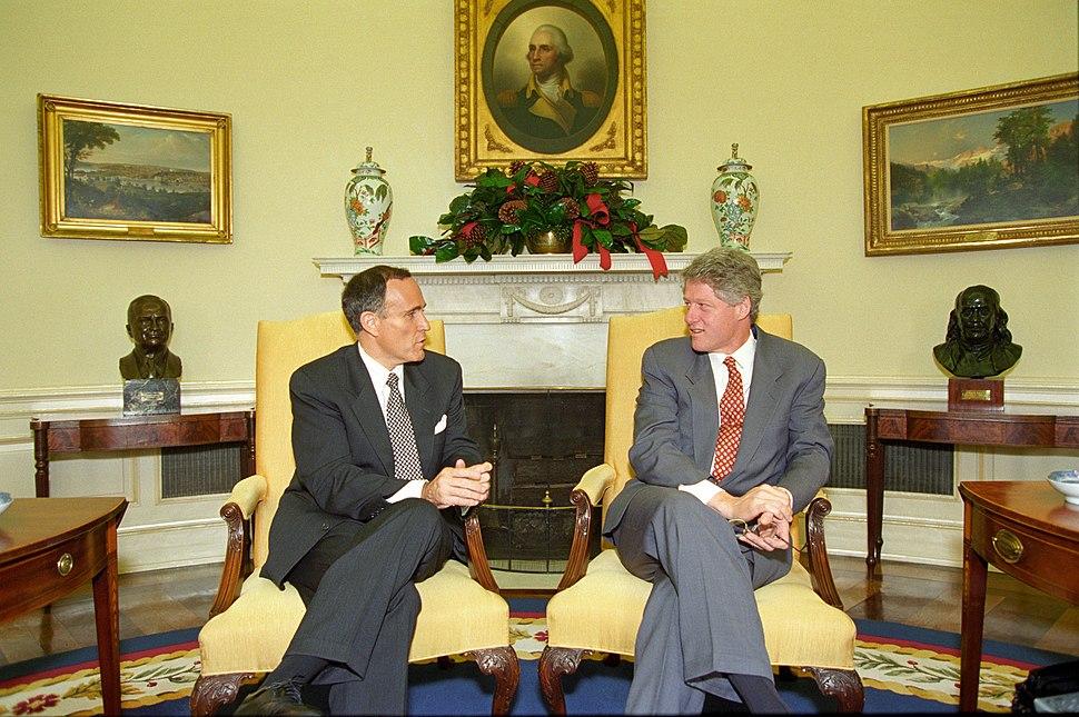 Bill Clinton and Rudy Giuliani