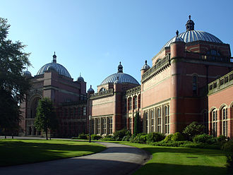 Eclecticism in architecture - The Aston Webb building at the University of Birmingham (1900–12), UK, in a quasi-Byzantine style.