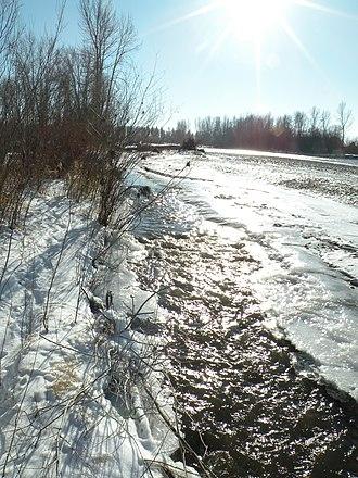 Bitterroot River - Image: Bitterroot River in Winter (15971446308)