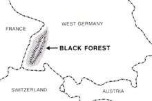 Black Forest Wikipedia - Germany map black forest