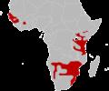 Black mamba range IUCN.png