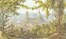 Florenz: ein Aquarell des 21-jährigen Felix Mendelssohn Bartholdy, 1830 (Quelle: Wikimedia)