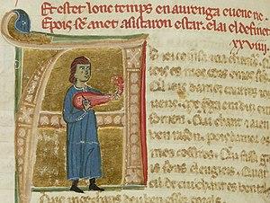 Albertet de Sestaro - Albertet playing a lute