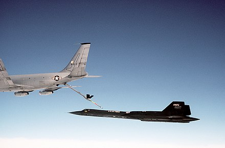 Boeing KC-135Q refueling SR-71 - Aerial refueling