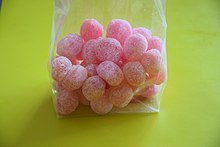 A bag of rose bonbons